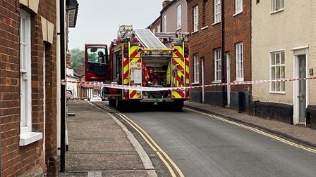 A man has died in a fire in Damgate Street, Wymondham. Picture: Ben Hardy. Picture: Ben Hardy
