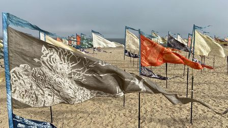 500 individually designed silk flags were installed on South Beach as part of the Days of Summer programme.