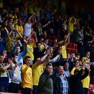 Torquay United fans during the National League Play-off Final Match between Hartlepool United and To