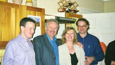 Cate Haste with colleagues from the landmark Cold War TV documentary series