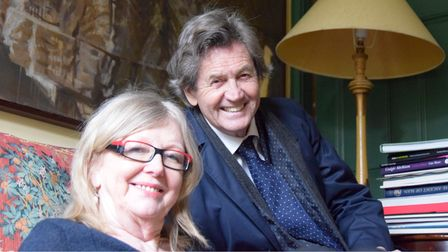 Cate Haste with her long-time husband Lord Bragg in their old Hampstead Hill Gardens home