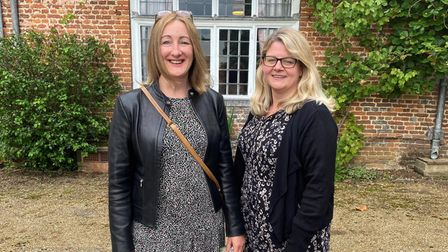 NHS nurse Liz Sumner and guest at Musicals at the Manor's opening concert atRothamsted Manor in Harpenden.