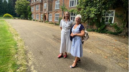 Representatives from Harpenden Trust at Musicals at the Manor's opening concert atRothamsted Manor in Harpenden.