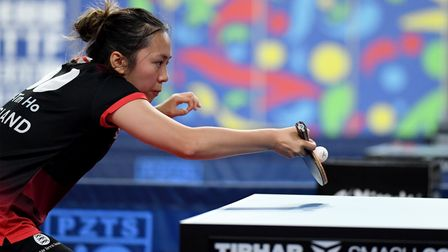 Tin-Tin Ho in action during the European Championships