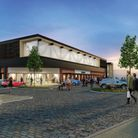 An artist's impression of the redeveloped B&M store