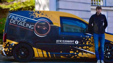 Aaron Summers started his ownvehicle valeting and detailing business