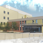 An artists impression of what the new hospital entrance could look like