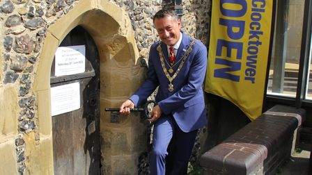St Albans Mayor Cllr Edgar Hill opened the Clock Tower on Saturday.