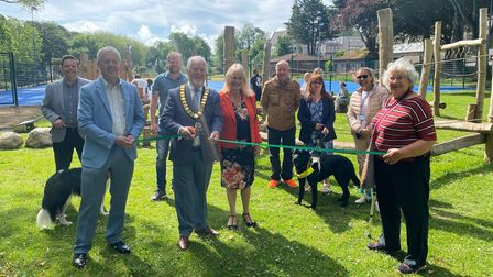 Mayor of Torbay Cllr Terry Manning, councillors and community stakeholders for Upton celebrating the opening of Upton Park