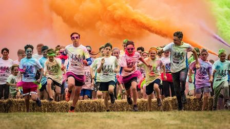 Paint Rush event at Riverside Park in St Neots.