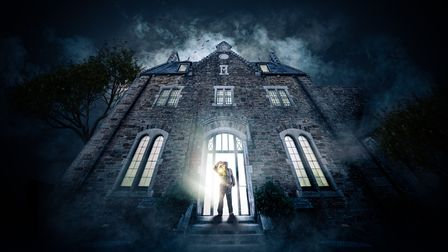 A still advertising Scary films to be shown in Bodmin Jail