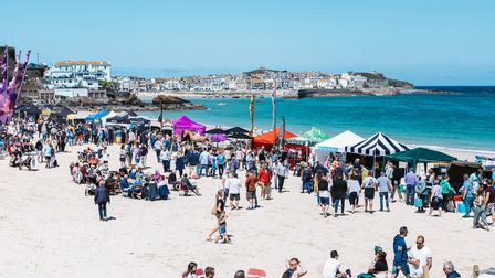 Porthmeor Beach, which is the setting for the St Ives Food and Drink Festival