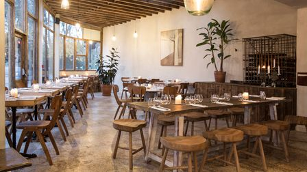 European dishes with inventive twists headline at Perilla, amodern, easy-going venue with large windows