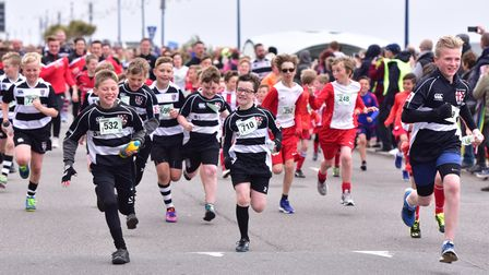 Runners of all ages got together in Bank Holiday Monday for the Felixstowe fun run.