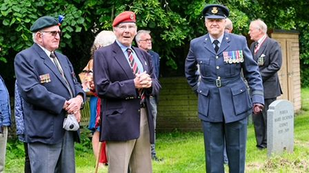 A scene from the Armed Forces Day commemoration in Northrepps.