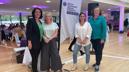 Herts Domestic Abuse Helpline volunteers at the Big Fat Charity Quiz of the Year.
