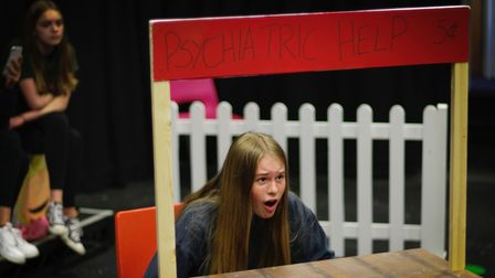 Rehearsals for Snoopy! The Musical at the Abbey Theatre in St Albans.