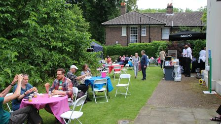 Visitors enjoyed delicious food and drink in the grounds of Keats House