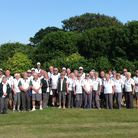 The tour group from Potters Bar Bowls Club.