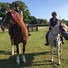 Philipa Monteith, left, and Sara Ponder riding the course at Kelling