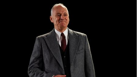 Malcolm Sinclair as Niels Bohr in Copenhagen, which can be seen at Cambridge Arts Theatre.