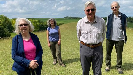 Conservators and Friends of Therfield Heath & Greens welcomed Lord Lieutenant of Hertfordshire Richard Beazley