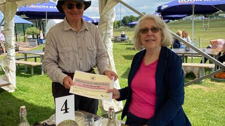 Vice Lord-Lieutenant of Hertfordshire Richard Beazley with Janet Rossignol-Bubbins