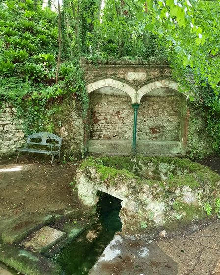 Upwey Wishing Well,a natural spring