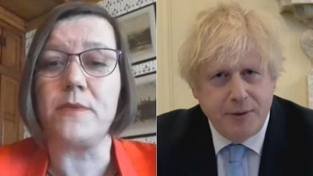 Labour MP Meg Hillier (L) calls on Boris Johnson to release evidence of Dominic Cummings' whereabout