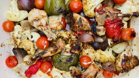 Spice up your offering from the wood-fired oven with this jerk chicken bake