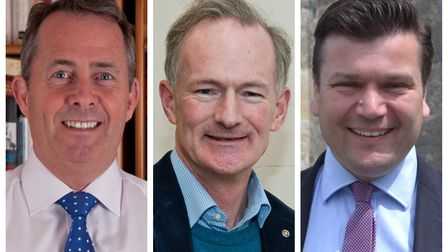 North Somerset MP Dr Liam Fox, MP for Weston John Penrose and Wells MP James Heappey.