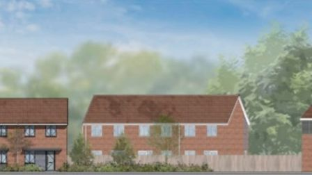 An artist's impression of thehouses at Nightingale Court.