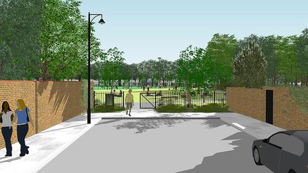 An artist's impression of what Barnard Park could look like, according to Islington Council's plans so far