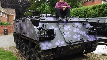 Merlin Batchelor with his 1967 armoured personnel carrier which has led him to launch a new business