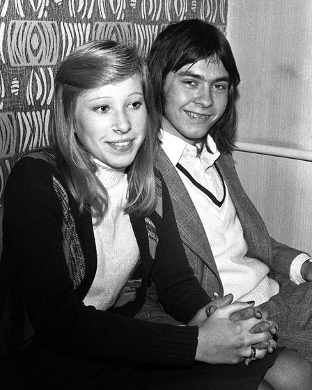 Can you name this duo, pictured at the pub in 1974? Picture: DAVID KINDRED