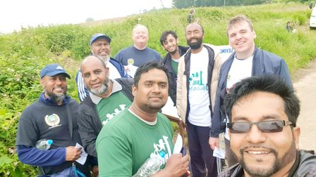Ipswich MP Tom Hunt took part in the Orwell Challenge with members of the town's Bangladeshi community