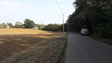 Park Road and development land in Grundisburgh