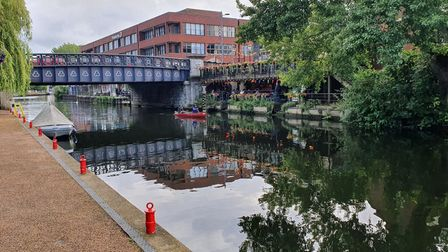 A group of pranksters was caught on camera untying boats moored up on the River Wensum in Norwich during the early hours.