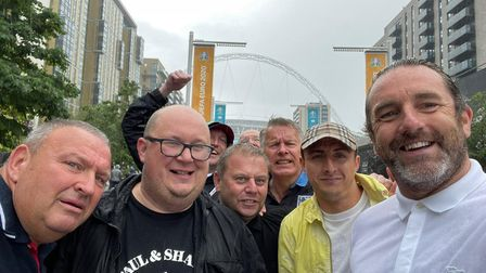 England fans outside Wembley stadium after the 2-0 victory over Germany