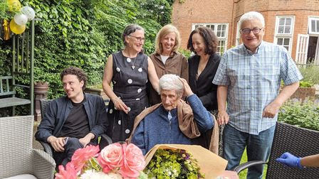 Ludwig Berlin celebrating his 100th birthday with family at Rathmore House