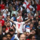England fans celebrate after the UEFA Euro 2020 round of 16 match at Wembley Stadium, London. Pictur