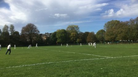 The cricket pitch at Wray Park
