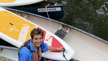 Chris Middleton, who works for The Canoe Man on the Wensum in Norwich
