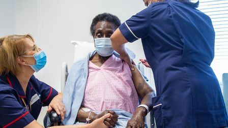 Josephine hopes she'll be able to hug her family after her second dose of the Pfizer Covid-19 vaccin