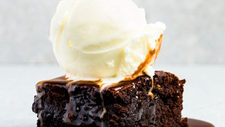 The Pudding Stop's heavenly chocolate brownie