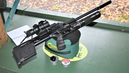 The Delta Wolf is a better looking rifle than this, or any, photo shows.
