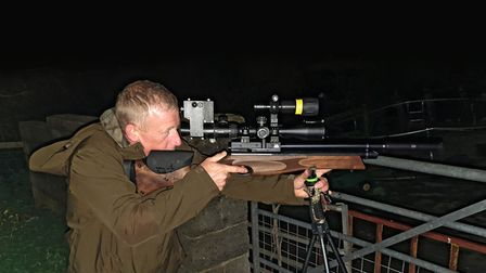 Shooting sticks are a great help in getting a steady aim