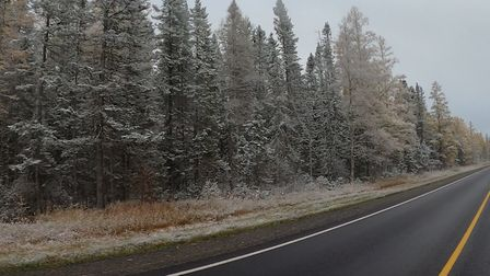 First snow started on my drive home