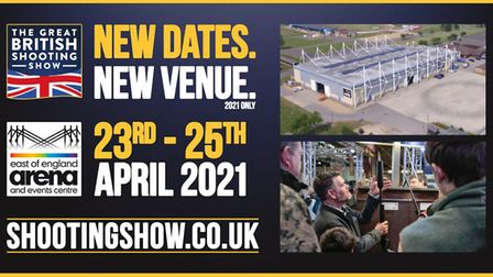 The April 2021 event will be held at the East of England Arena and Events centre