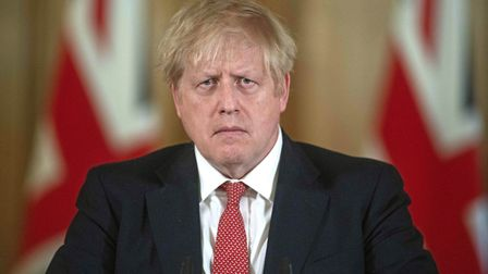 Prime Minister Boris Johnson speaking at a media briefing in Downing Street. Photograph: JULIAN SIMM